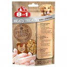 8in1 Freeze Dried Meaty Treats 100 % blanc de poulet pour chien 50 g