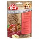 8in1 Freeze Dried Meaty Treats au canard et aux pommes pour chien 50 g