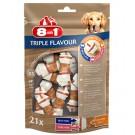 8in1 Triple Flavour Os XS pour chien x21