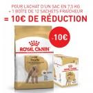 Offre Royal Canin: 1 Caniche Adult 7.5 kg + 1 Caniche Adult mousse 12 x 85 g = 10€ de remise immédiate