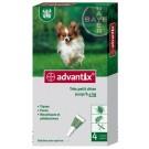 Advantix très petit chien (1,5-4 kg) - 4 pipettes- La Compagnie des Animaux
