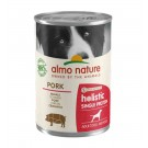 Almo Nature Chien Holistic Single Protein Digestion au porc 24 x 400 g