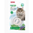 Beaphar VETOpure collier répulsif antiparasitaire pour chat et chaton blanc- La Compagnie des Animaux