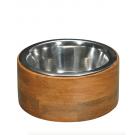 Bubimex Gamelle en acier inox avec cadre en bois - La Compagnie des Animaux