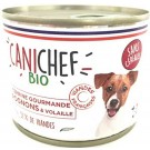 Canichef Terrines gourmandes BIO rognons et volaille sans céréales 12 x 200 grs- La Compagnie des Animaux