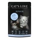 Cat's Love Junior veau sans céréales et sans gluten 12 x 85 g