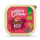 Edgard & Cooper Barquette Bœuf Bio pour chien 17 x 100 g- La Compagnie des Animaux