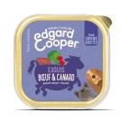Edgard & Cooper Barquette Boeuf et Canard pour chien 11 x 150 g - La Compagnie des Animaux