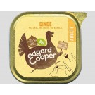 Edgard & Cooper Barquette Dinde Bio pour chien 17 x 100 g