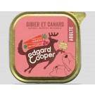 Edgard & Cooper Barquette Gibier & Canard pour chien 11 x 150 g
