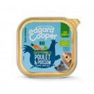 Edgard & Cooper Barquette Poulet & Poisson Bio pour chiot 17 x 100 g- La Compagnie des Animaux