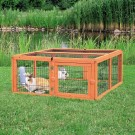 Natura enclos en bois avec toit 116 × 48 × 109 cm