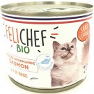 Felichef Mousses gourmandes BIO saumon sans céréales pour chat 12 x 200 grs - La Compagnie des Animaux