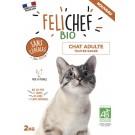 Felichef croquettes BIO sans céréales, sans gluten chat adulte 2kg - La Compagnie des Animaux