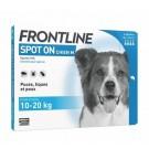 Frontline Spot on chien de 10-20 kg 4 pipettes- La Compagnie des Animaux