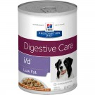 Hill's Prescription Diet Canine I/D Low Fat mijotés au poulet 12 x 354 grs- La Compagnie des Animaux