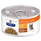 Hill's Prescription Diet Feline C/D Multicare mijotés au poulet et légumes 24 x 82 grs- La Compagnie des Animaux