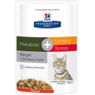 Hill's Prescription Diet Feline Metabolic + Urinary Stress 12 x 85 g- La Compagnie des Animaux