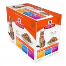 Hill's Science Plan Feline Adult Optimal Care Pack Mixte sachets 12 x 85 grs- La Compagnie des Animaux