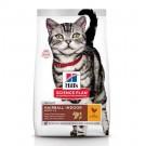Offre Bonus Bag: 1 sac Hill's Science Plan Feline Adult Hairball Indoor Poulet 10 kg + 1,5 kg offerts