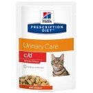 Hill's Prescription Diet Feline C/D Urinary Stress Poulet SACHETS 12 x 85 grs- La Compagnie des Animaux