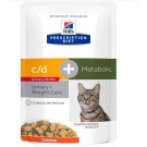 Hill's Prescription Diet Feline C/D Urinary Stress + Metabolic sachets 12 x 85 g