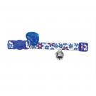 Hunter Collier bleu à fleurs pour chat - La Compagnie des Animaux