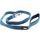 I-DOG Laisse Confort Elastique Bleu/Gris 120 cm - La Compagnie des Animaux