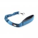 I-DOG Laisse Confort Elastique Bleu/Gris 60 cm - La Compagnie des Animaux