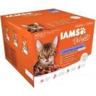 "IAMS Delights Multipack ""Terre & Mer"" en sauce chat 24 x 85 grs - La Compagnie des Animaux"