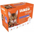 "IAMS Delights Multipack ""Terre & Mer"" en sauce chat 12 x 85 grs - La Compagnie des Animaux"