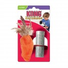 Kong Cat Refillable Feather Top Carrot jouet herbe à chat rechargeable - La Compagnie des Animaux
