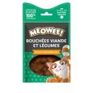 Offre MEOWEE! 2 Friandises bouchées poulet et brocolis pour chat 35 g achetées la 3ème offerte