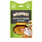 MEOWEE! Friandises filets de poulet avec catnip pour chat 35 g