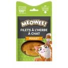 Offre MEOWEE! 2 Friandises filets de poulet avec catnip pour chat 35 g achetées la 3ème offerte