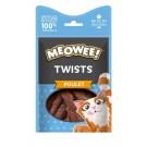 MEOWEE! Friandises Twists au poulet pour chat 35 g