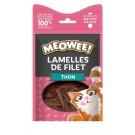 MEOWEE! Friandises Lamelles de filet au thon pour chat 35 g