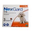 Nexgard Chiens 2 à 4 kg 3 cps- La Compagnie des Animaux