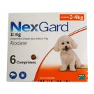 Nexgard Chiens 2 à 4 kg 6 cps- La Compagnie des Animaux