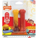 Nylabone Power Chew Twin Pack Os 2x cheeseburger & tarte aux pommes S - La Compagnie des Animaux