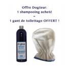 Offre Dogteur: 1 Shampooing PRO Dogteur Amandes bleues 500 ml acheté = 1 gant de toilettage offert