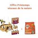 Offre Printemps: 1 Mangeoire La Table des Petits Oiseaux + 1 sac de graines de Tournesol décortiquées 1.5 kg