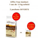 Offre True Instinct: 1 sac Original Medium Maxi Adult Poulet 12 kg acheté = 2 pochons No Grain Medium/Maxi Adult Poulet 300 g offerts