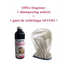 Offre Dogteur: 1 Shampooing PRO Dogteur Cade 250 ml acheté = 1 gant de toilettage offert