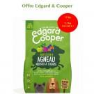 Offre Edgard & Cooper: 1 sac Croquettes Agneau frais sans céréales Chien Adulte 12 kg acheté = 1 sac de 2,5 kg offert- La Compagnie des Animaux