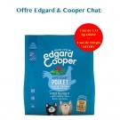 Offre Edgard & Cooper 1 sac Appetissant Poulet & Poisson Blanc MSC croquettes sans céréales pour chat senior 1,75 kg acheté = 1 sac de 300 g offert