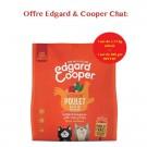 Offre Edgard & Cooper 1 sac Succulent Poulet croquettes sans céréales pour chat adulte 1,75 kg acheté = 1 sac de 300 g offert