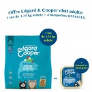 Offre Edgard & Cooper: 1 sac Merveilleux Poisson Blanc MSC croquettes sans céréales pour chat adulte 1,75 kg acheté = 4 barquettes offertes