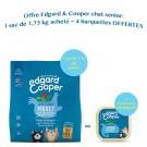 Offre Edgard & Cooper: 1 sac Appetissant Poulet & Poisson Blanc MSC croquettes sans céréales pour chat senior 1,75 kg acheté = 4 barquettes offertes