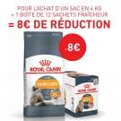 Offre Royal Canin: 1 sac Féline Care Nutrition Hair & Skin Care 4 kg + 12 sachets intense beauty achetés = 8€ de remise immédiate
